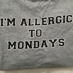 Nasty Gal Allergic to Mondays Graphic T-shirt